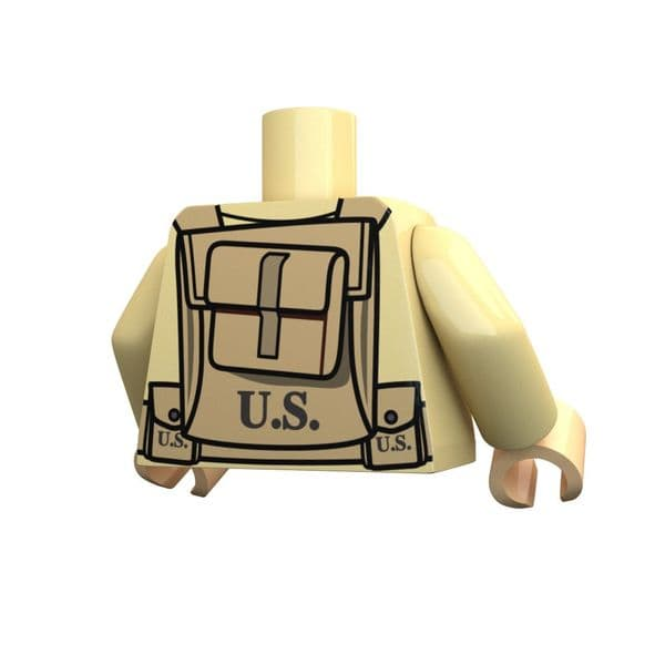 American BAR | Lego Printed Torso | United Bricks